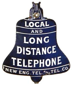 Telephone Booth Sign - 1910