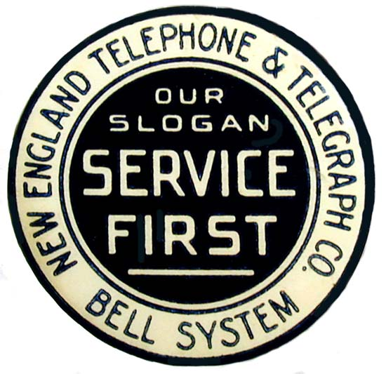 "1905 Pinback - Note the term ""Bell System"""