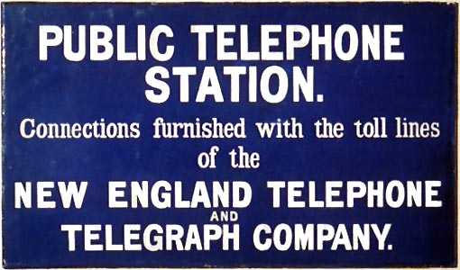 Pay Station Sign - 1913