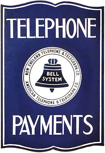 Bill Payment Location Sign - 1938
