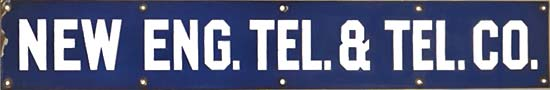 New England Bell Telephone Sign