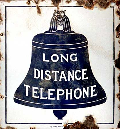 AT&T Long Distance Pay Station Sign - 1889